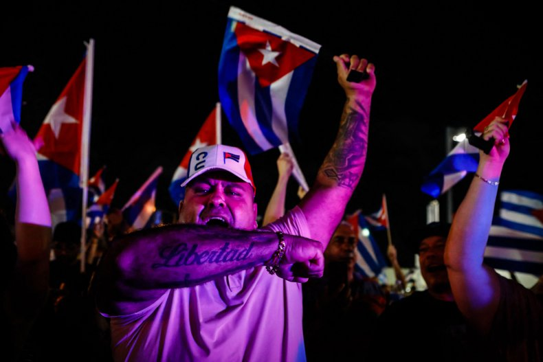 Cuban Americans protest in Florida
