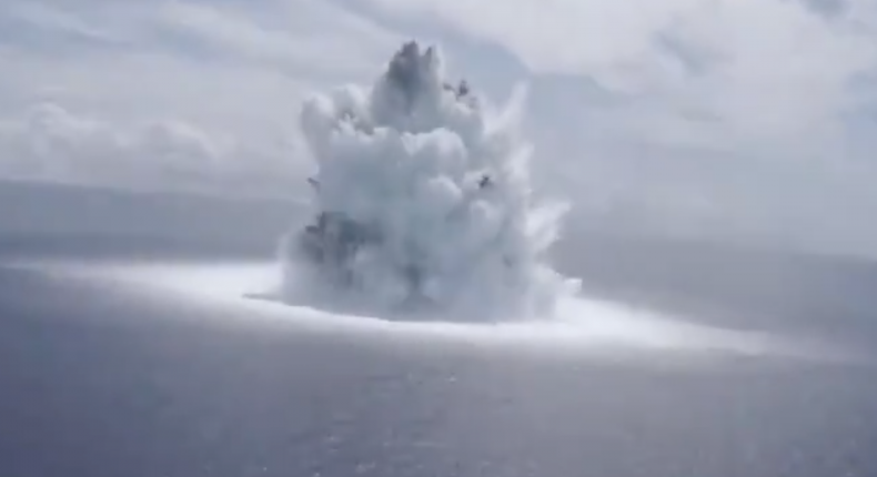 Experimental Explosion Atlantic Ocean Navy USGS