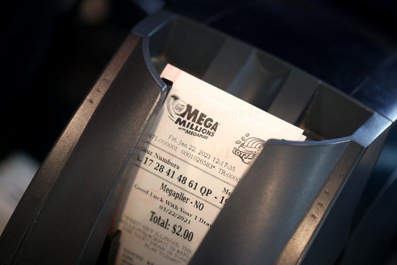 Mega Millions ticket in Chicago