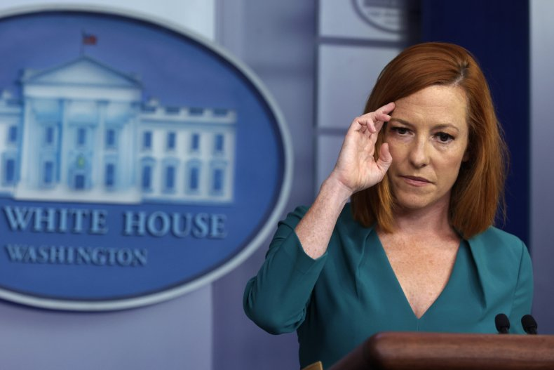 Jen Psaki Holds a Daily Briefing