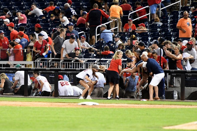 The shooting happened at Nationals Stadium