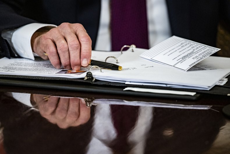 Biden stimulus checks recurring monthly payment petitions