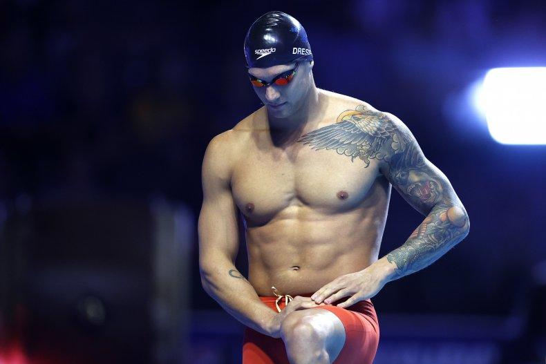Caeleb Dressel at 2021 U.S. Olympic trials.