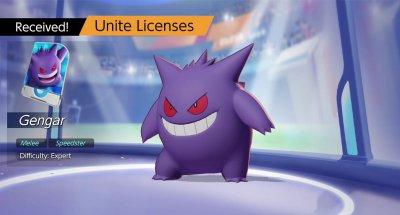 Gengar in Pokemon Unite