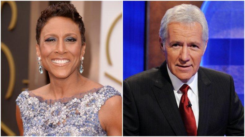 "Robin Roberts and ""Jeopardy!"" host Alex Trebek"
