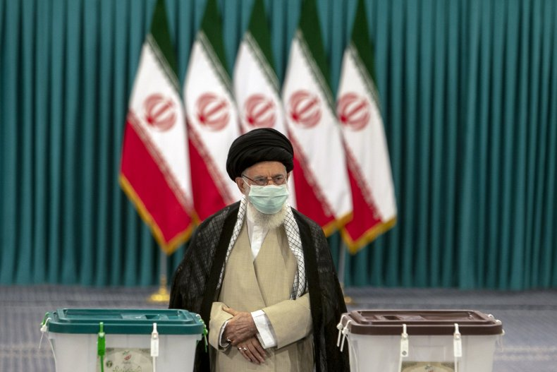 Ali Khamenei votes in Iran's election