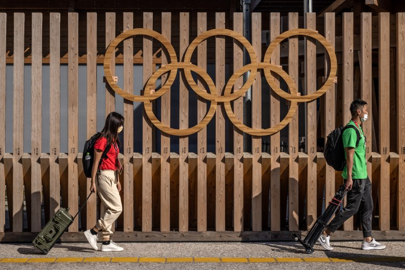 Olympics athletes test positive for COVID-19