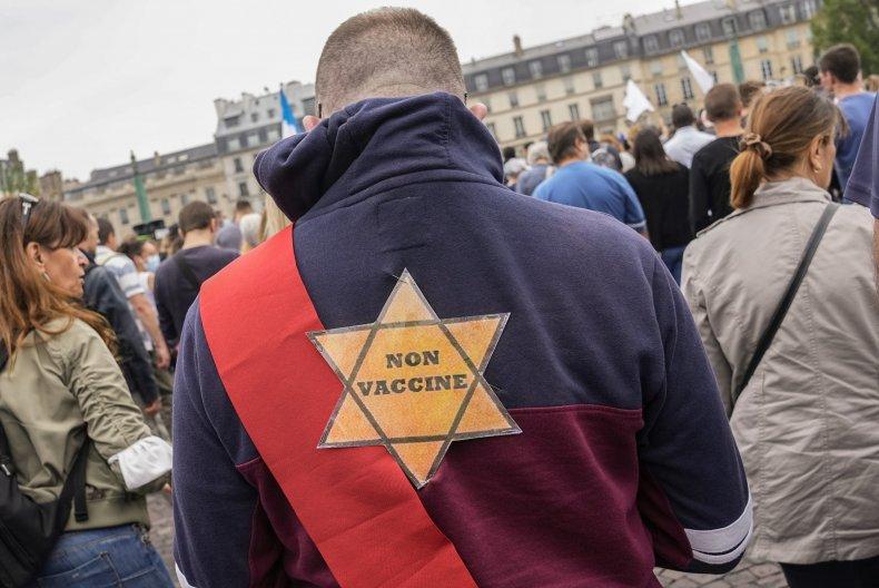 Anti-Vaccine Protester in France