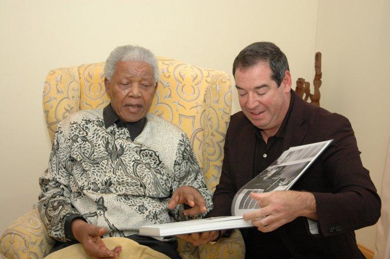 Ivor Ichikowitz and Nelson Mandela