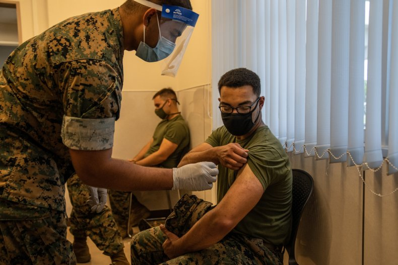 covid-19 vaccine military thomas massie