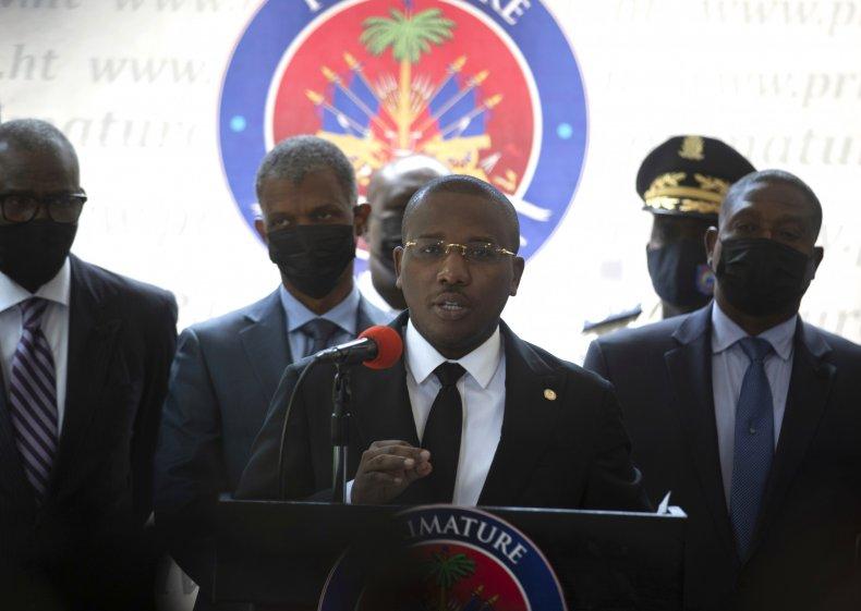 Claude Joseph Speaks at Port-au-Prince, Haiti