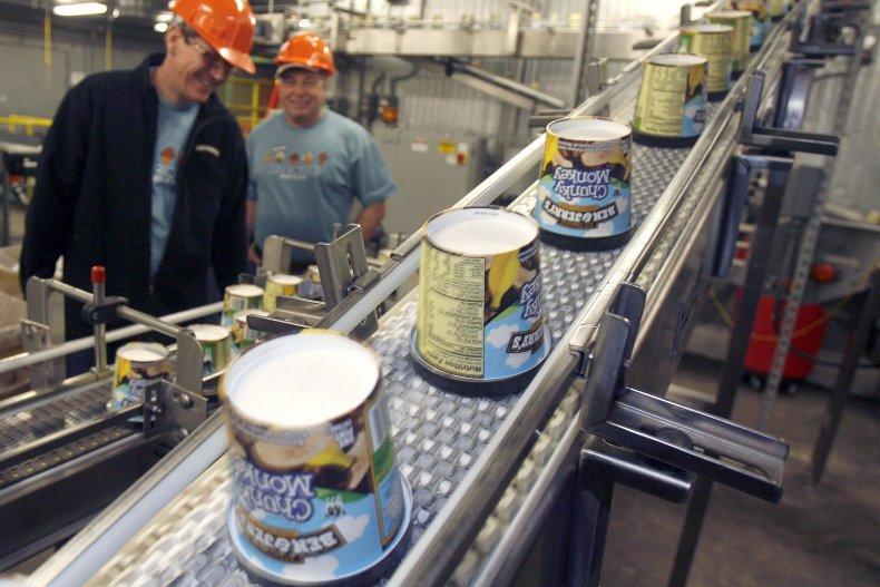 Ben & Jerry's production line