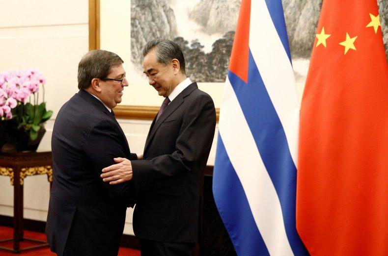 Cuba, Bruno, Rodríguez, meets, China, Wang, Yi