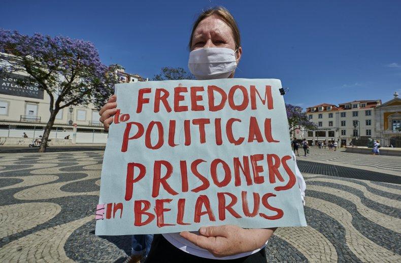 Portugal Belarus protest