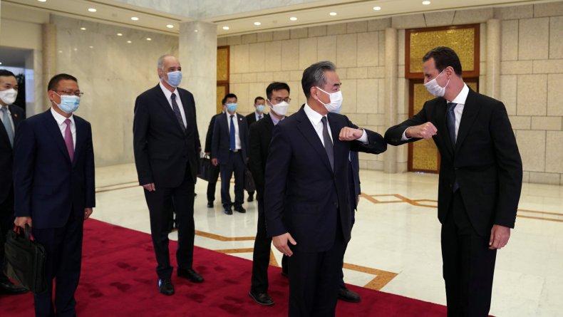China, Wang, Yi, meets, Syria, Bashar, Assad