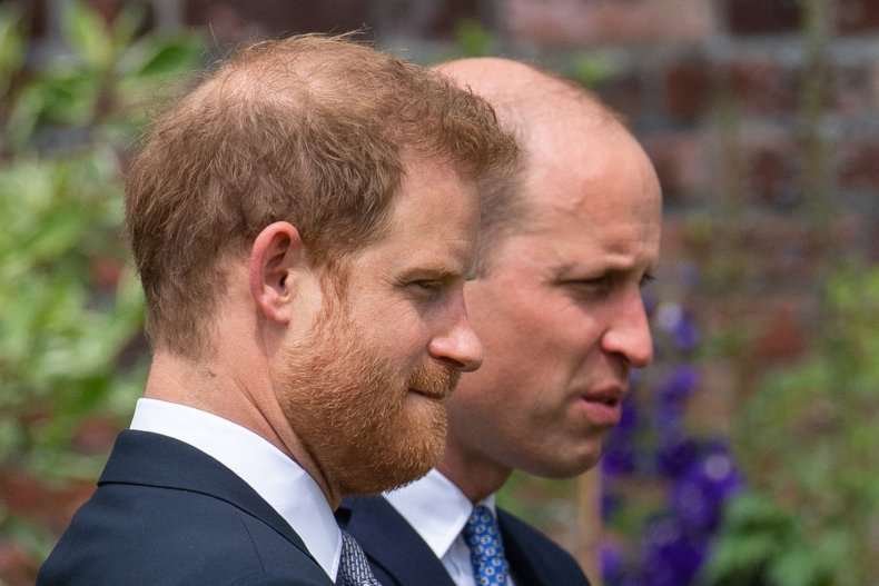 Prince Harry and Prince William Unveil Statue