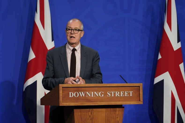 Patrick Vallance at a U.K. press conference.
