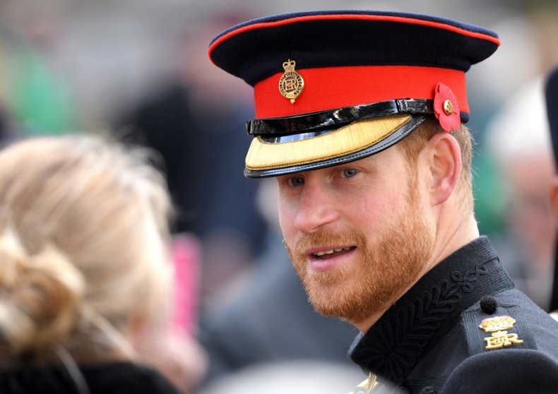 Prince Harry at Remembrance Sunday