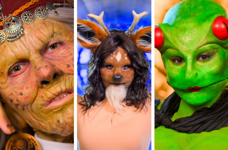 Witch, Deer and Frog in Sexy Beasts