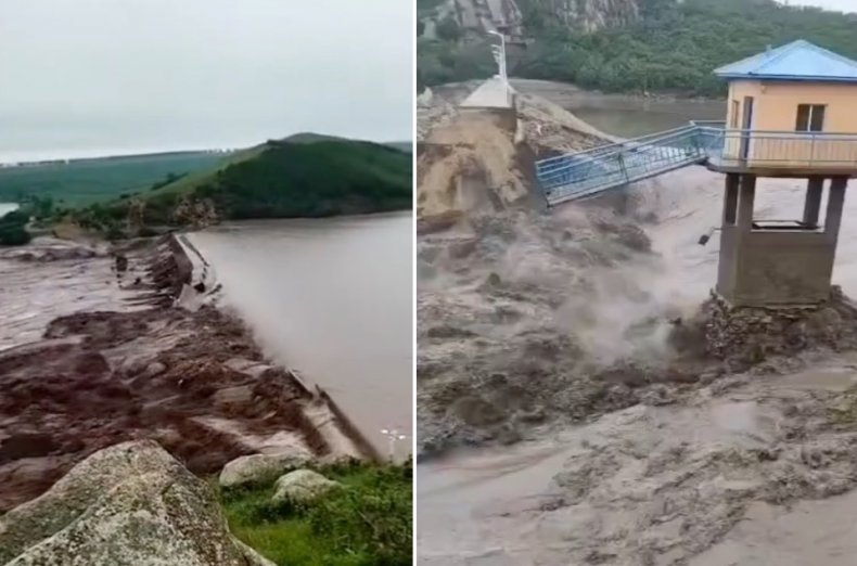 Dams Collapse As China Hit With Floods