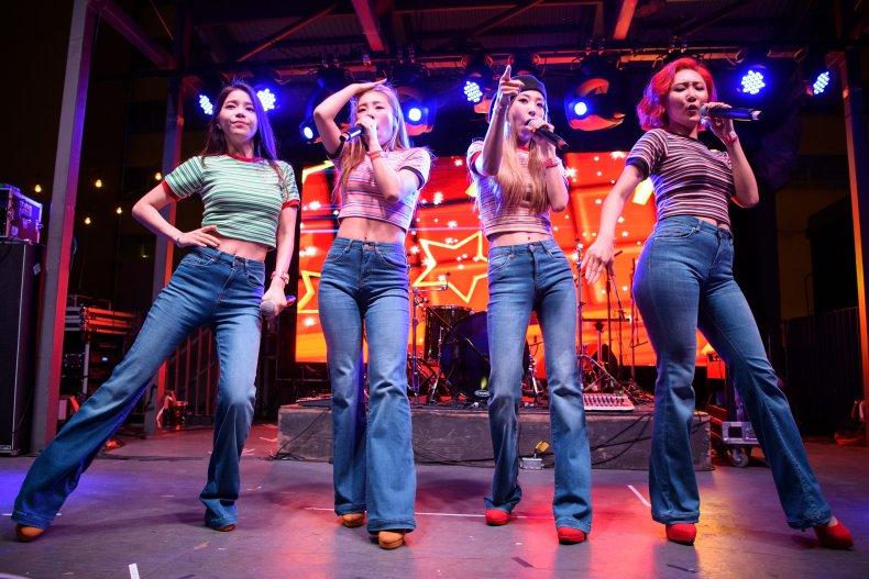 K-pop group Mamamoo performing at a SXSW.