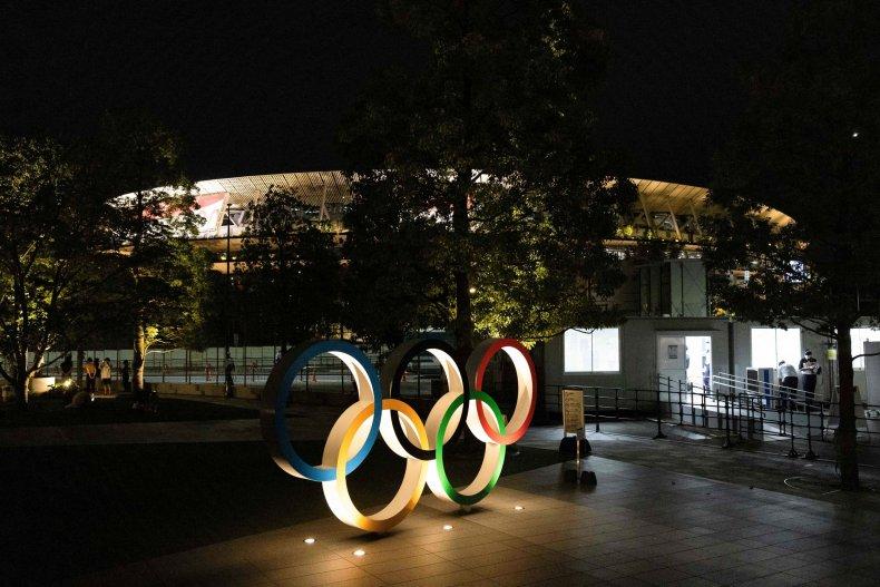 Olympic Rings on Display in Tokyo
