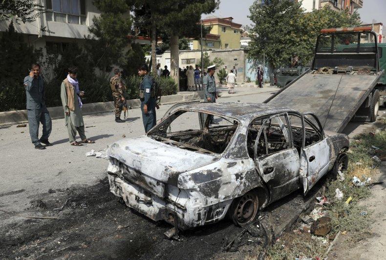 Car involved in rocket attack