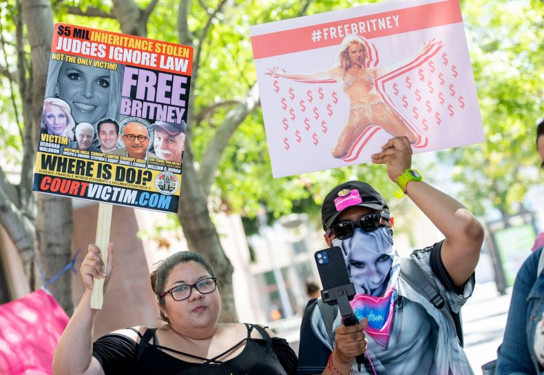 #FreeBritney Protestors