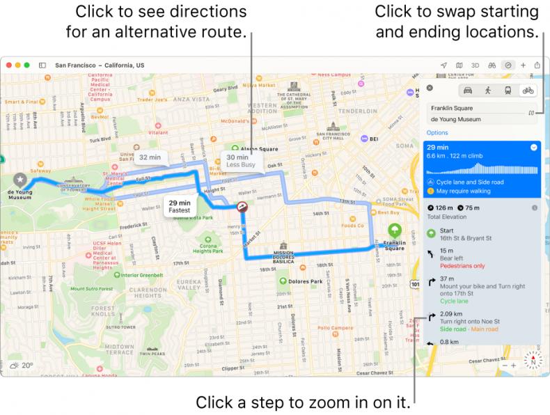 Apple MacBook Maps