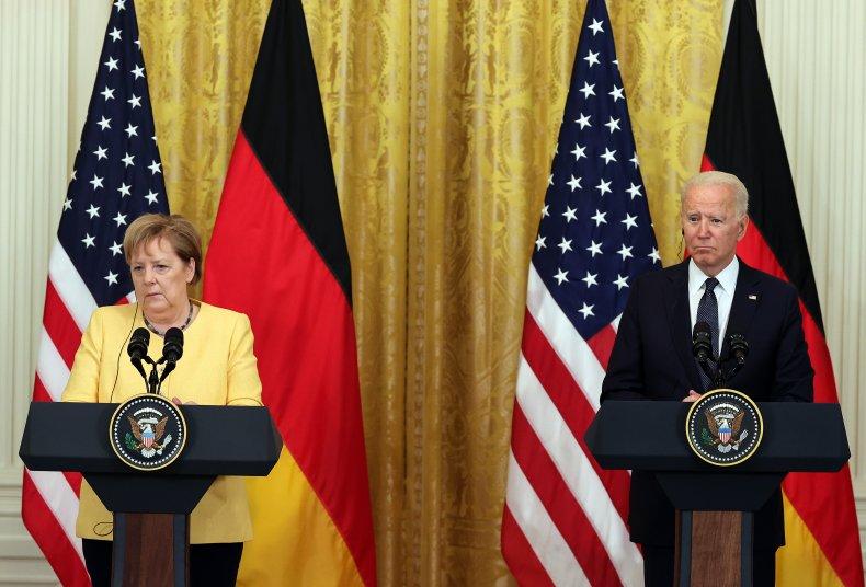 President Joe Biden and Chancellor Angela Merkel