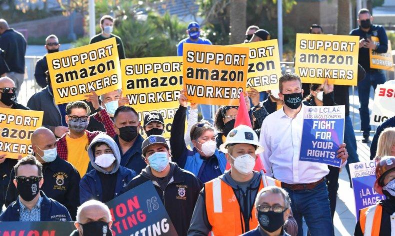 Union rally Alabama Amazon workers