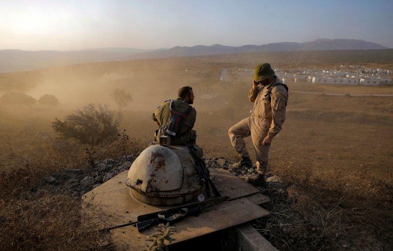 Israel, troops, Golan, Heights, Syria