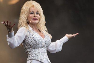 Dolly Parton performing at Glastonbury Festival