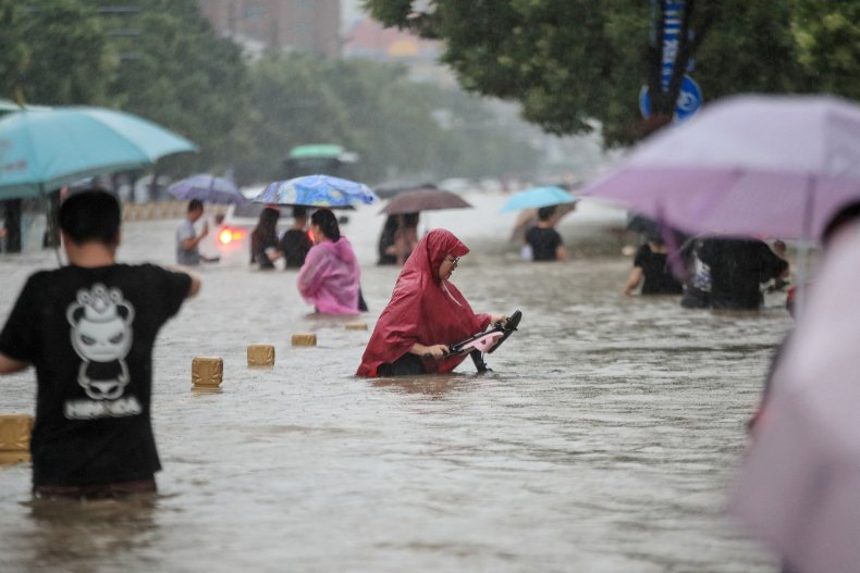 Historic floods inundated central China cities