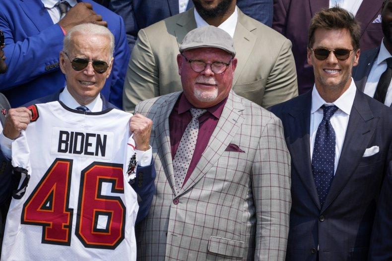 President Joe Biden and Tom Brady