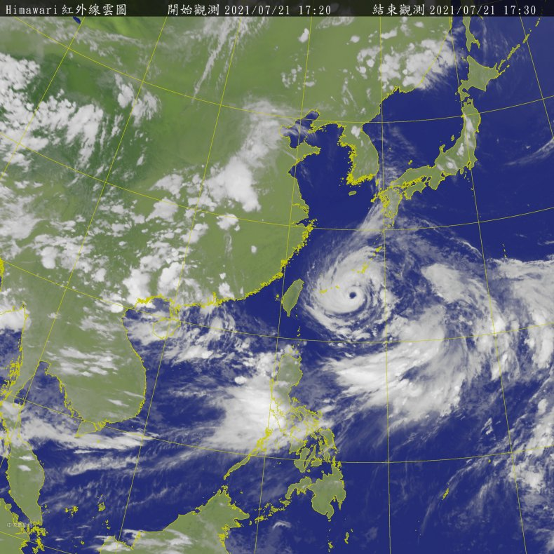 Typhoon Approaches East China Sea