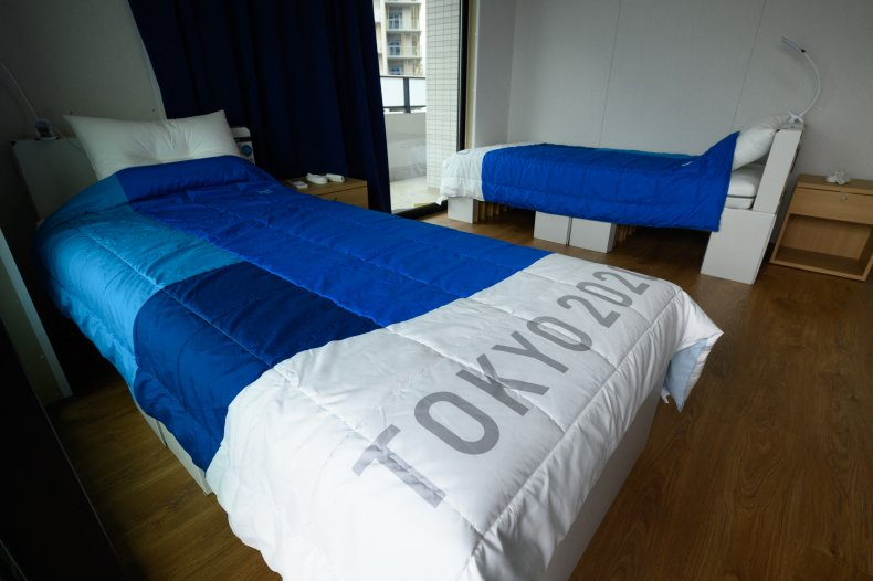 The athlete beds at the Tokyo Olympics.