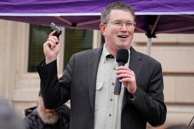 Rep. Thomas Massie at a rally