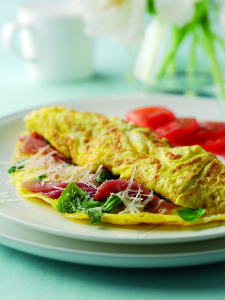 Parma Ham and Basil Omelette