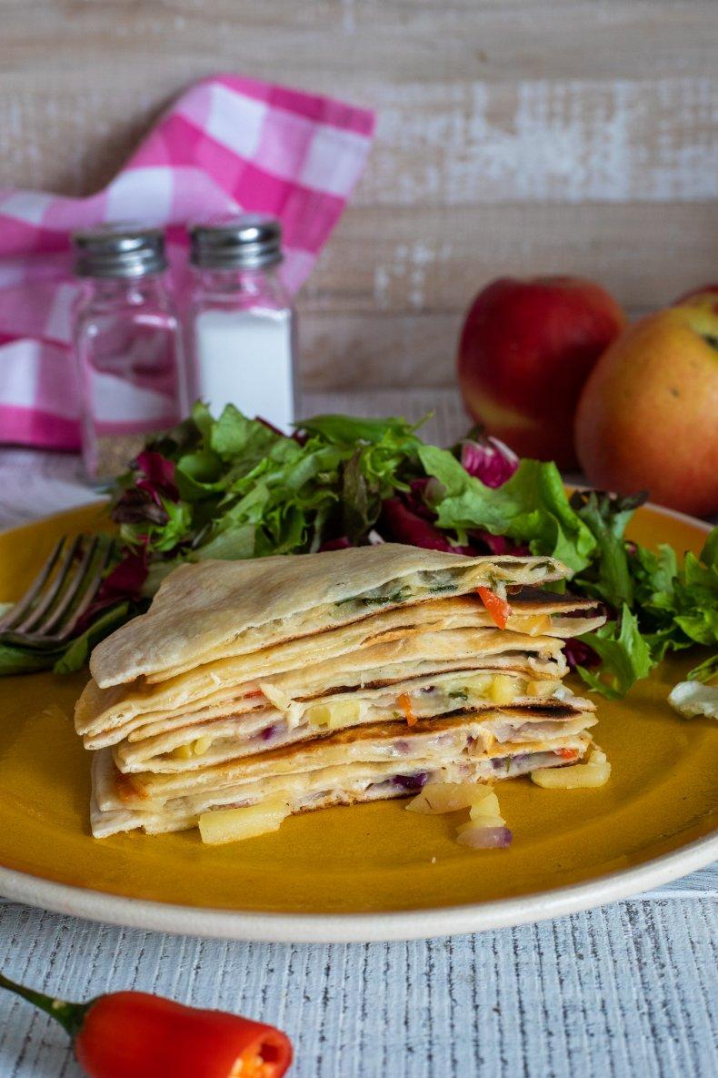 Quick Apple Quesadillas