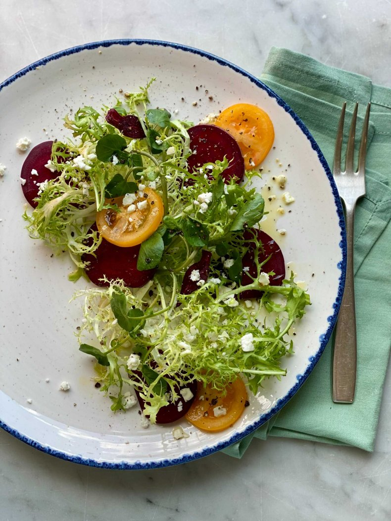 Frisee Salad With Feta, Beets and Summer