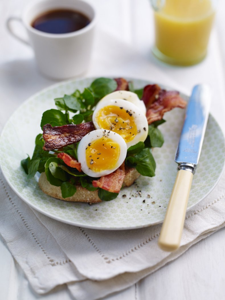 Watercress and Smoked Bacon on Sourdough