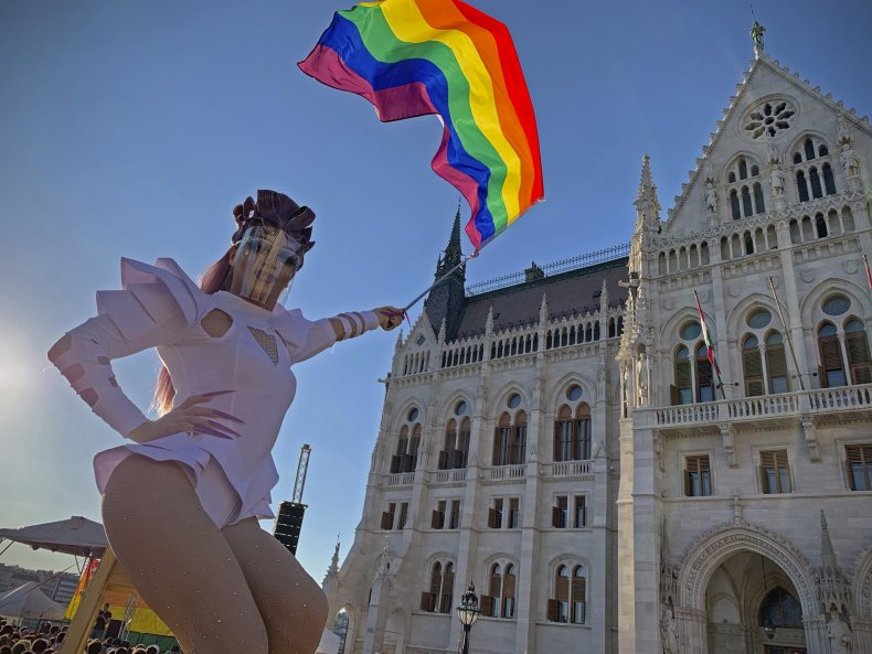 Hungary LGBT Rights Demonstration