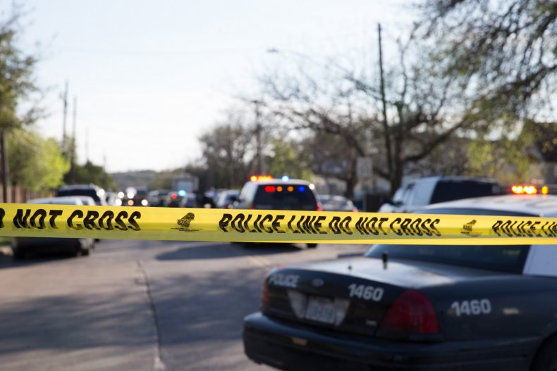 Police line in Texas