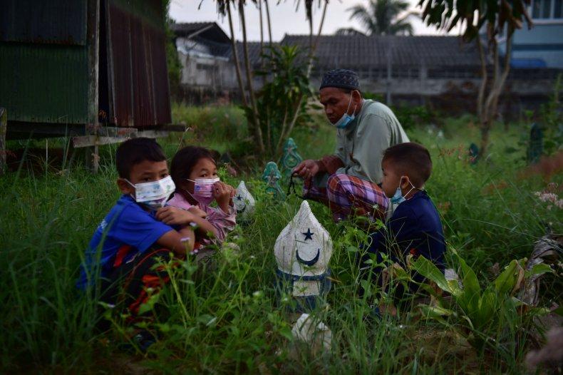 Children Wear Masks in Thailand