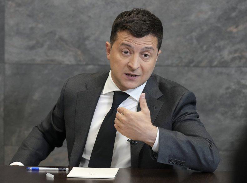 Volodymyr Zelensky speaking