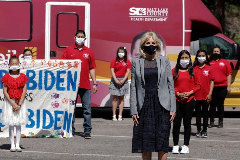 Jill Biden Visits Utah Vaccine Site