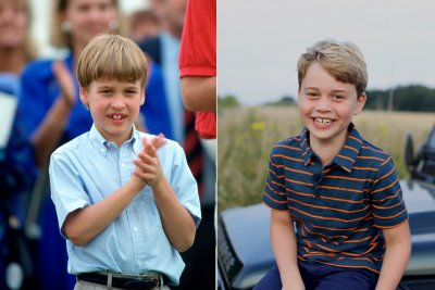 Prince William and Prince George aged 8