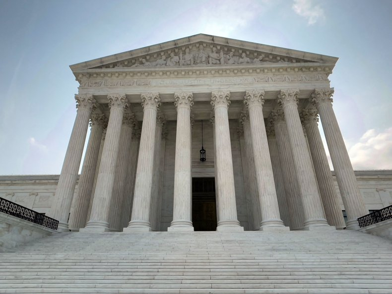 The US Supreme Court building is viewed