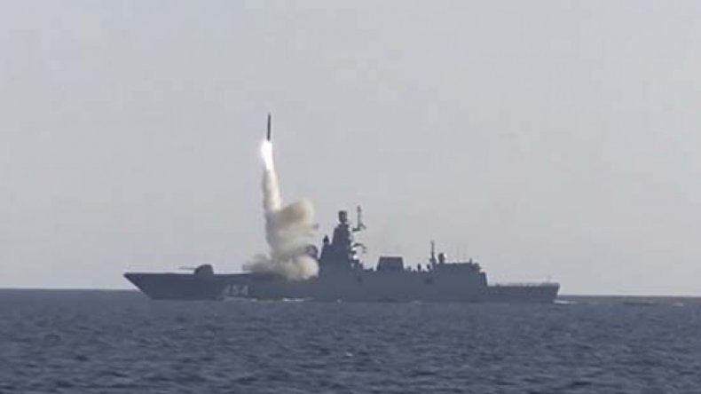 Russia, Admiral, Gorshkov, fires, Tsirkon, missile